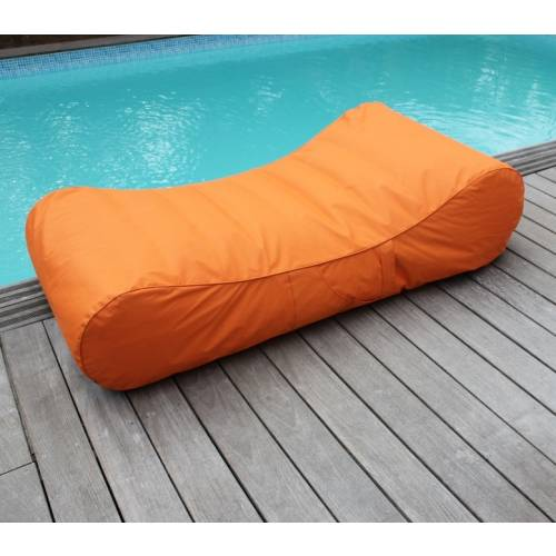 Chaise Longue Gonflable – Orange - Sunvibes : vente Chaise Longue on chaise furniture, chaise sofa sleeper, chaise recliner chair,