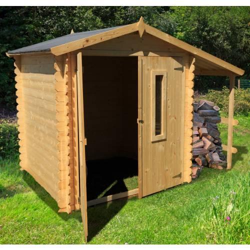 abri de jardin en bois avec b cher 4 m2 vente abri de. Black Bedroom Furniture Sets. Home Design Ideas