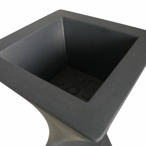 Pot Design - 55x55 x H100cm - Anthracite