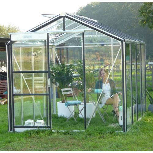 Serre de jardin en verre trempé 4mm - 7m² - ACD : vente ...