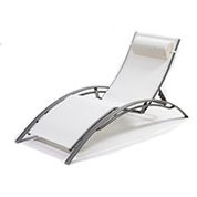 chaise longue design beige