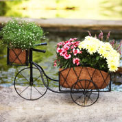 jardiniere tricycle en metal